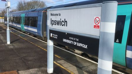 Ipswich Station has been repainted as part of the Greater Anglia programme. Picture: PAUL GEATER