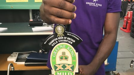 The Greene King XX Mild which has won the Champion Beer of Britain at the annual Great British Beer