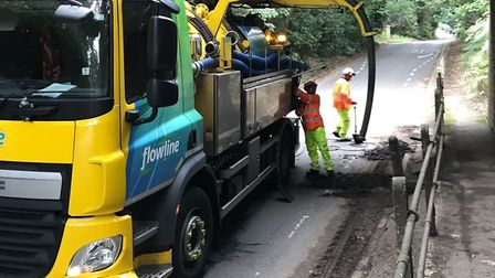 Suffolk Highways say that The Street, Nacton will re-open at midnight Picture: Suffolk Highways