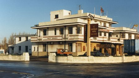 The Cavendish Hotel, Sea Road, Felixstowe, in 1987. The hotel opened in 1936 and was demolished in 1