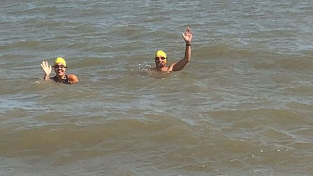 The Fletchers have taken part in several open water swims and have been training for over a year Pic