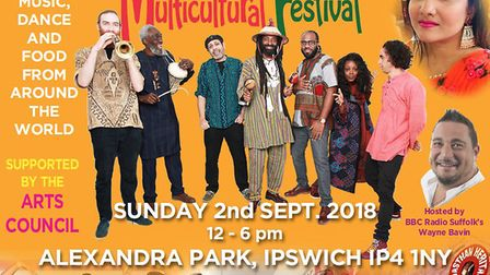 This year's festival features many multicultural acts and will be hosted by BBC Suffolk's Wayne Bevi
