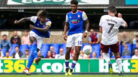 Trevoh Chalobah levels for town making the score 1-1. Picture: STEVE WALLER WWW.STEPHENWALLER