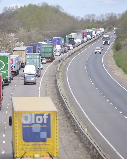 The A14 at Stowmarket. Picture: SU ANDERSON