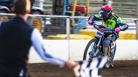 Cameron Heeps led the scoring for Ipswich at Workington. Picture: STEVE WALLER