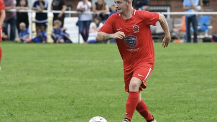 Robbie Sweeney on the ball for Stow. Picture: DAVID WALKER