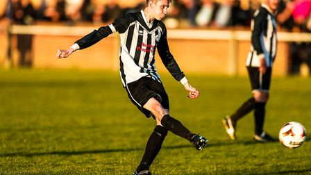 Chris Sillett was on target for Benhall in their season-opening win over Cops. Picture: STEVE WALLER