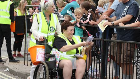 Charity collectors at the Sudbury Carnival Picture: Andy Howes