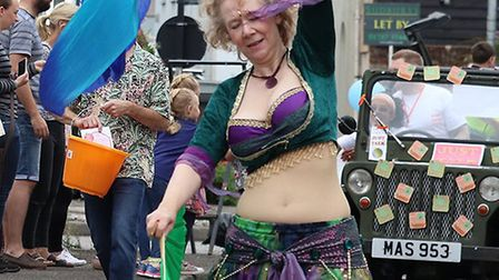 Belly dancing at the Sudbury Carnival Picture: ANDY HOWES