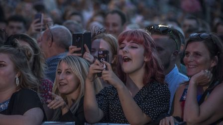 Capturing the event on their phones, audience members at the George Ezra concert. Picture: MARTIN DU