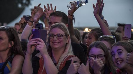 Enthusiastic audience members at the George Ezra concert. Picture: MARTIN DUNNING/ON TRACK MEDIA