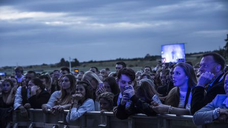 Crowds watching the George Ezra concert at Newmarket Nights. MARTIN DUNNING/ON TRACK MEDIA