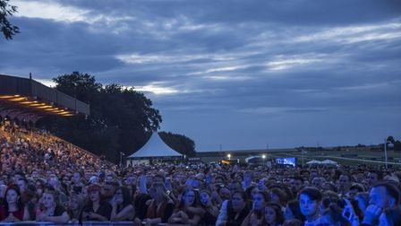Crowds watching the George Ezra concert at Newmarket Nights. Picture: MARTIN DUNNING/ON TRACK MEDIA