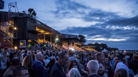 Crowds at the George Ezra concert at Newmarket Nights. Picture: MARTIN DUNNING / ON TRACK MEDIA