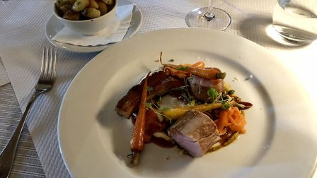 Mark's pork main at the Leaping Hare - superb. Picture: MARK HEATH