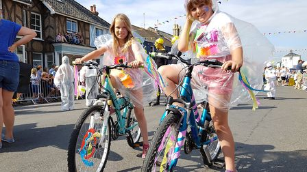 Youngsters enjoy the fun at Aldeburgh Carnival Picture: RACHEL EDGE