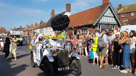 Floats of all shapes and sizes at Aldeburgh Carnival Picture: RACHEL EDGE