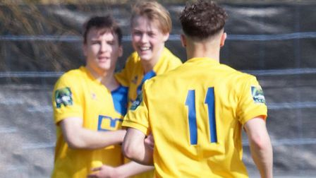 Two-year deal for Callum Harrison, left Photo: PAUL VOLLER