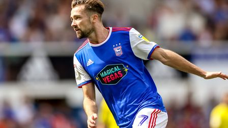 Gwion Edwards has been electrifying for Ipswich Town so far this season. Picture: STEVE WALLER