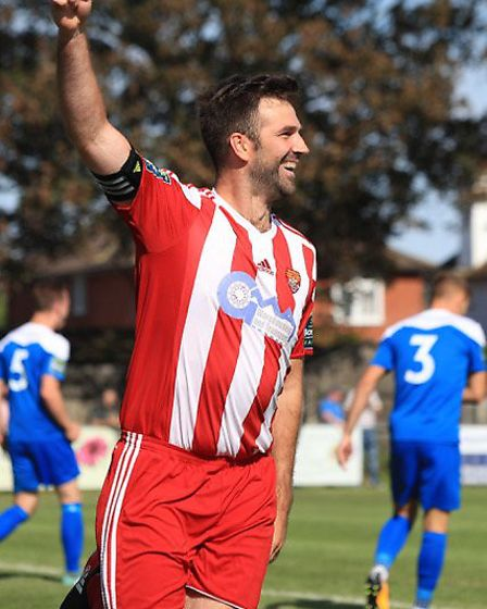 Sesaiders' captain Rhys Barber is looking to add to his goal tally at Great Wakering on Saturday. Pi