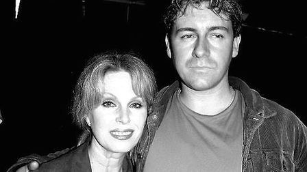 Joanna Lumley with writer-director Jason Figgis. The pair worked together on Figgis' documentary A M