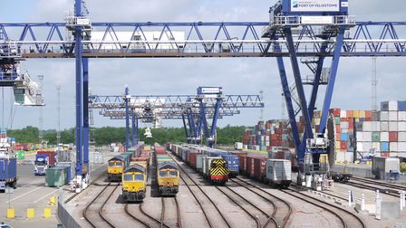 More trains will be able to run to and from Felixstowe dock once the line is doubled. Picture: NETWO