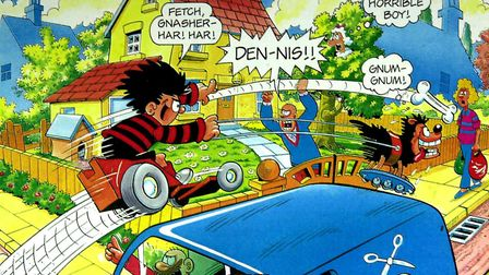An example of Barrie Appleby's Beano work Picture: ANDY ABBOTT