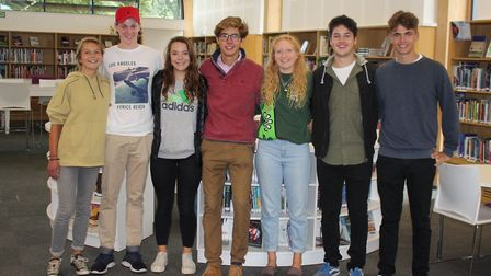 Students celebrate A-level results at Culford School near Bury St Edmunds in 2018 Picture: CULFORD S