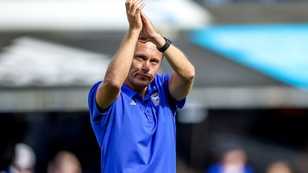 Paul Hurst takes charge of his second home game as Ipswich Town boss against Aston Villa. Picture: S