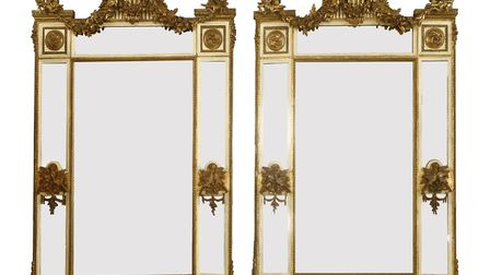 A pair of pier mirrors from Rod Stewart's collection. Picture: Sworders
