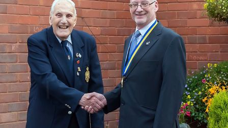John Nunn, (right) who is a parish and district councillor, is taking over as president of Long Melf