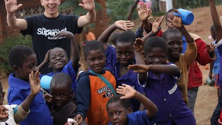 Pupils and staff from Culford School helped build a library at a school in Africa Picture: CULFORD S
