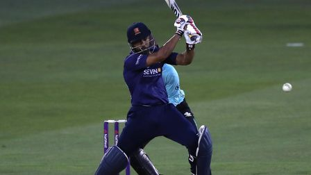 Essex all-rounder Ravi Bopara, who marked his 300th career T20 appearance by taking his 200th wicket