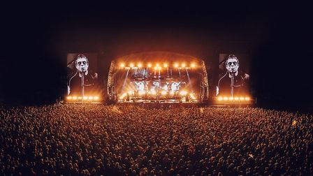 Liam Gallagher headlined the mainstage at RiZe Festival on Friday Picture: TWITTER @RiZEFestival
