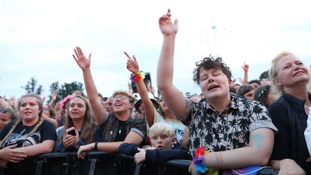 Crowds gather by the stage on day two of the inaugural Rize Festival Picture: ISABEL INFANTES/PA WIR