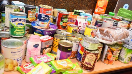 Items at Stowmarket Foodbank Picture: GREGG BROWN