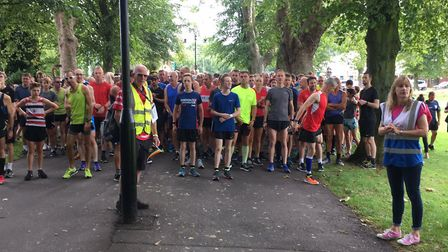 A field of 319 congregate at the start of Saturday's King's Lynn parkrun. Picture: CARL MARSTON
