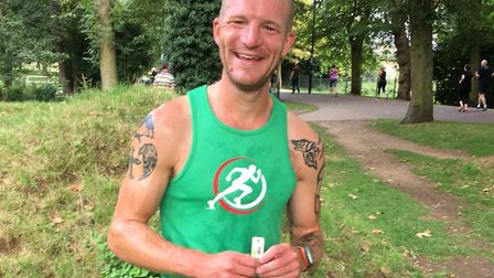 Robert Chenery, fresh from finishing first at the King's Lynn parkrun on Saturday. Picture: CARL MAR