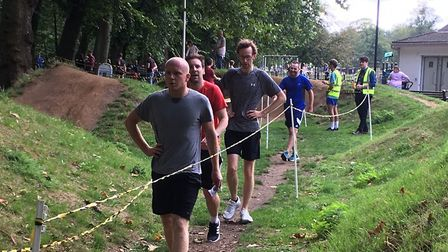 Runners in the finish funnel at the 365th staging of the King's Lynn parkrun. Picture: CARL MARSTON