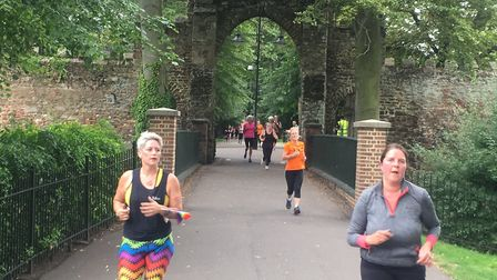 Runners proceed through the Gannock Arches during the King's Lynn parkrun. Picture: CARL MARSTON