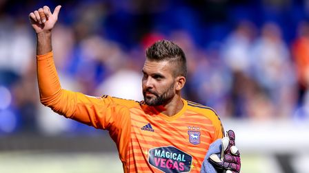Bartosz Bialkowski would happily finish his career as an Ipswich Town player. Picture: STEVE WALL