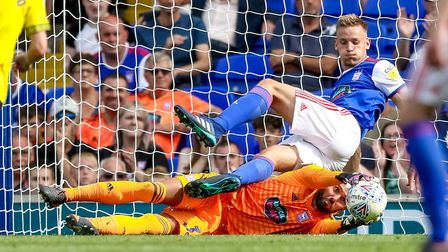 Bialkowski recently signed a new deal at Ipswich Town. Picture: STEVE WALLER