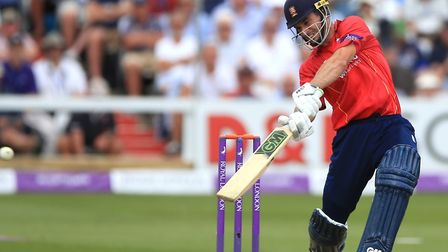 Essex's Ryan ten Doeschate, who top-scored with 73 against Somerset.