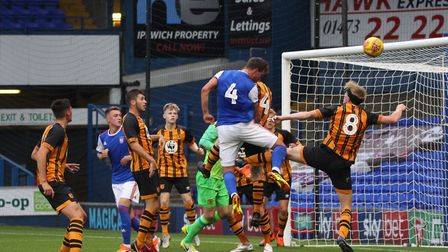 Emyr Huws coming close to scoring in the first half Picture: ROSS HALLS