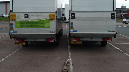 The vans have been rendered unusable by the vandals and furniture collections have now been delayed.