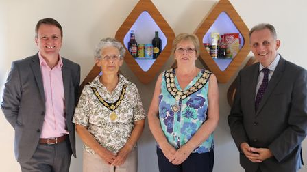 from left: Mark Tyldesley, Shirley Bonner, Linda Baxter and Dr Nigel Davies. Photo: Andy Janes