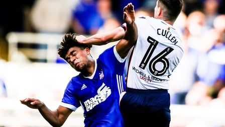 Injuries have restricted Tom Adeyemi to just five appearances for Ipswich Town. Photo: Steve Waller