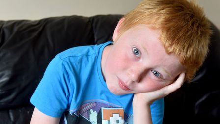 Joseph Stride-Noble, nine, has special educational needs and hasn't been to school since April Pict