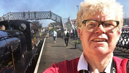 Paul Geater during an earlier visit to the North Norfolk Railway - will he find a trilby in time for