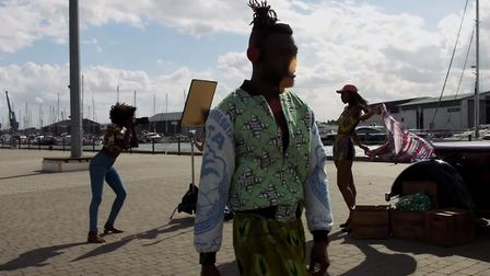 Afrikan Boy - Butterfly video; a scene from his new music video - which was filmed in Ipswich. This